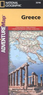 National Geographic Adventure Travel Map Greece