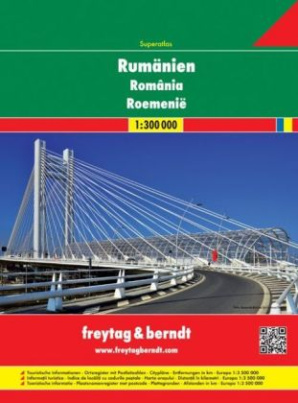 Freytag & Berndt Atlas Superatlas Rumänien. Superatlas Romania. Superatlas Roemenie; Superatlas Roumanie; Superatlante Romania