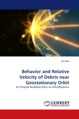 Behavior and Relative Velocity of Debris near Geostationary Orbit