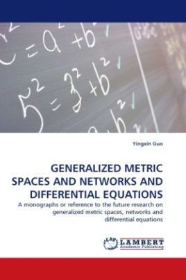 Generalized Metric Spaces and Networks and Differential Equations