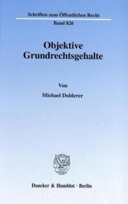 Objektive Grundrechtsgehalte