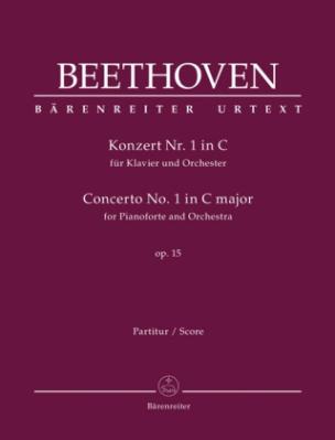 Konzert Nr. 1 in C für Klavier und Orchester, op. 15, Partitur