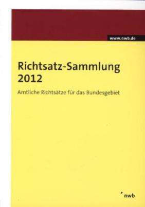 Richtsatz-Sammlung 2012