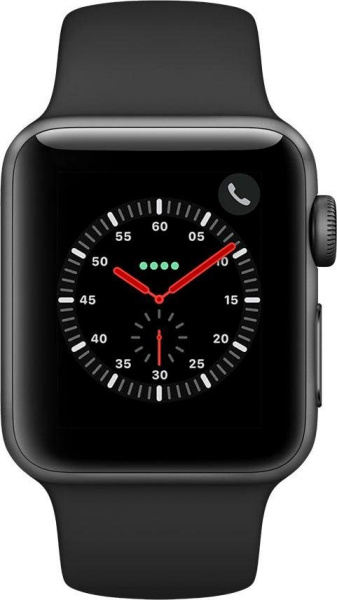 "APPLE Smart Watch ""Watch Series 3"" (GPS, Cellular, 38 mm Aluminiumgehäuse, Space Gray/Schwarz)"