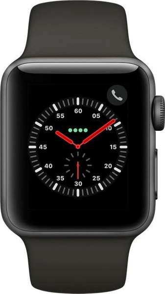 "APPLE Smart Watch ""Watch Series 3"" (GPS, Cellular, 38 mm Aluminiumgehäuse, Space Gray/Anthrazit)"