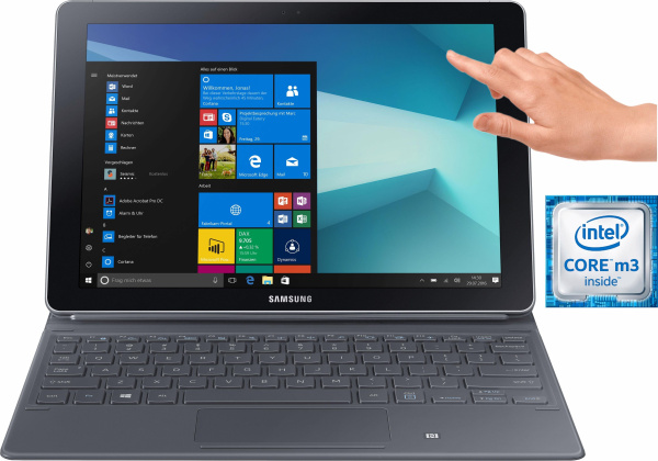 "SAMSUNG 2in1-Notebook ""Galaxy Book 10.6"" WiFi"" (Intel® Core™ m3, 64 GB Speicher, 4 GB RAM)"