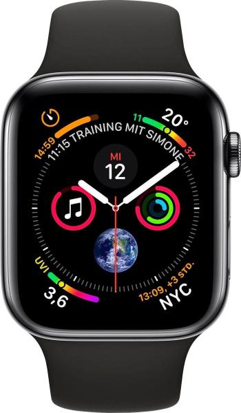 """APPLE Smart Watch """"Watch Series 4"""" (GPS + Cellular, 40mm, Edelstahlgehäuse, Schwarz)"""