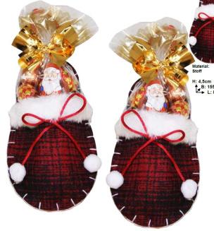 Pantoffelchen gefüllt mit Weihnachtsüßwaren 2er-Set