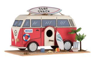 Dekoratives Deko-Vogelhäuschen Motiv: Surf Shack