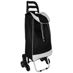 Einkaufstrolley schwarz / weiß