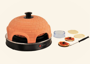 Pizza-Ofen mit Keramik-Kuppel