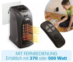Mini-Heizung 500W mit Fernbedienung