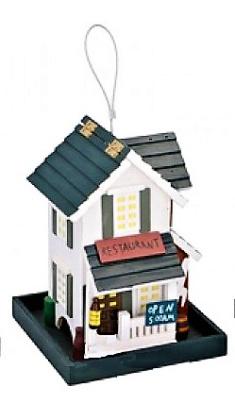 Holz-Vogelfutterhaus Restaurant
