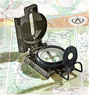 Armee-Kompass schwarz