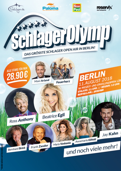 where can i buy thoughts on coupon code Ticket Schlager Olymp Berlin - 11.08.2018