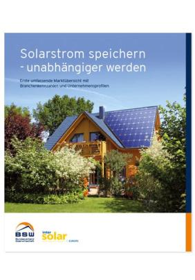 Solarstrom speichern - unabhängiger werden