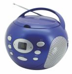 CD-Boombox mit Aux-In in Metallic-BLAU