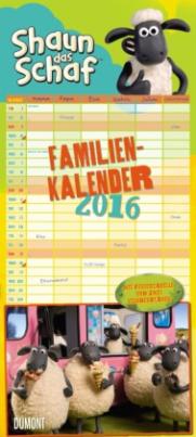 Shaun das Schaf - Familienkalender 2016