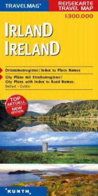 Travelmag KUNTH Reisekarte Irland 1:300 000