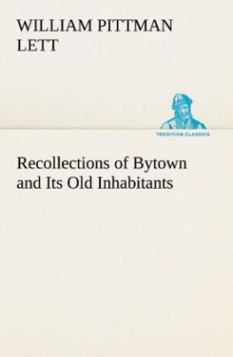 Recollections of Bytown and Its Old Inhabitants