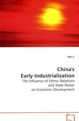 China's Early Industrialization