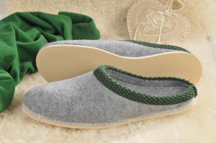 Walker-Pantoffeln mit Poro-Sohle (grau) Gr.38/39