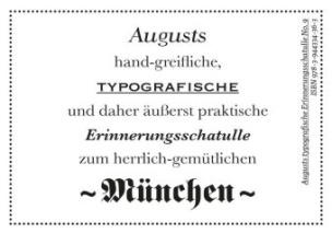 Augusts Erinnerungsschatulle München, m. 40 Minipostkarten
