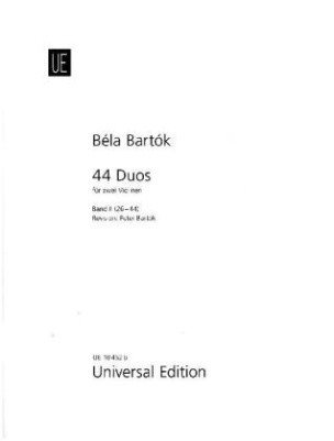 44 Duos, für 2 Violinen. Bd.2