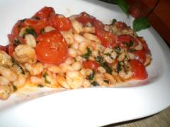 Garnelen mit Knoblauch und Tomaten