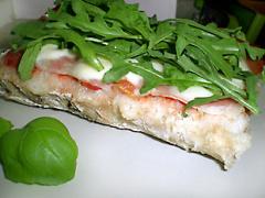Ciabatta mit Rucola, Parmaschinken und Mozzarella