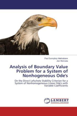 Analysis of Boundary Value Problem for a System of Nonhogeneous Ode's