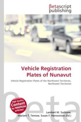 Vehicle Registration Plates of Nunavut