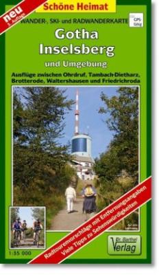 Doktor Barthel Karte Gotha, Inselsberg und Umgebung