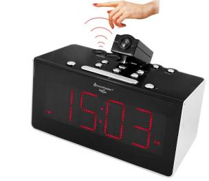 Funkuhren-PLL-Radio mit Projektion, Sensor und Dualalarm