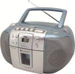 Radio, CD-Player und Kassettenanspieler mit Kopfhörerbuchse - blau
