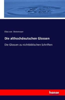 Die althochdeutschen Glossen