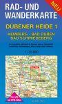 Rad-, Wander- und Gewässerkarte: Dübener Heide 1