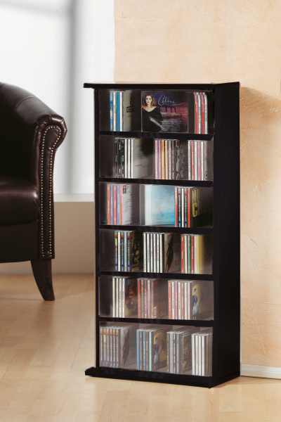 cd regal vostan schwarz f r 150 cds. Black Bedroom Furniture Sets. Home Design Ideas