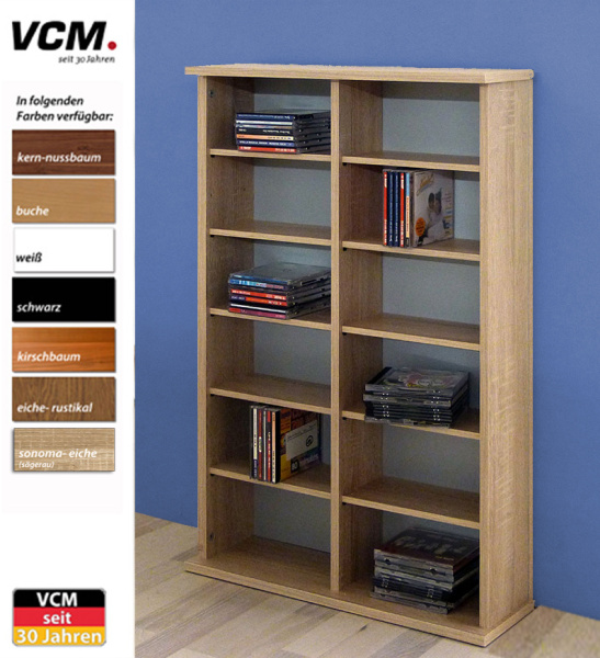 cd dvd regal ronul buche 300 cds ohne glast r. Black Bedroom Furniture Sets. Home Design Ideas