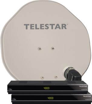 Doppel DVB-S Satelliten-Komplettanlage